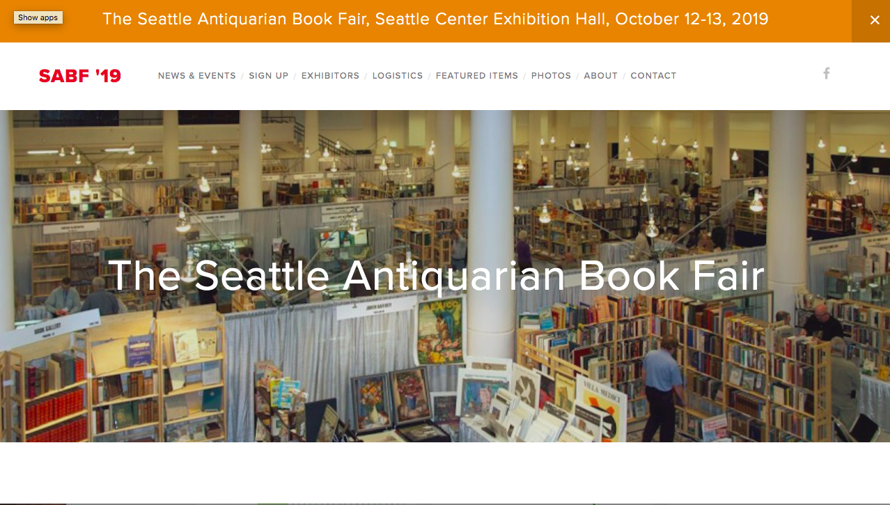 Seattle Antiquarian Book Fair