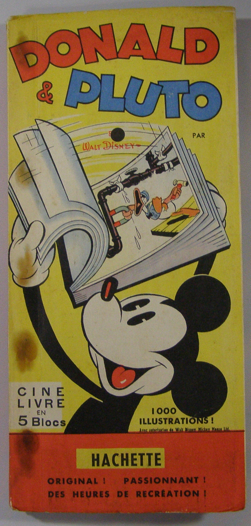 Donald Pluto Flip Book Cine Livre En 5 Blocs By Walt Disney On Thorn Books
