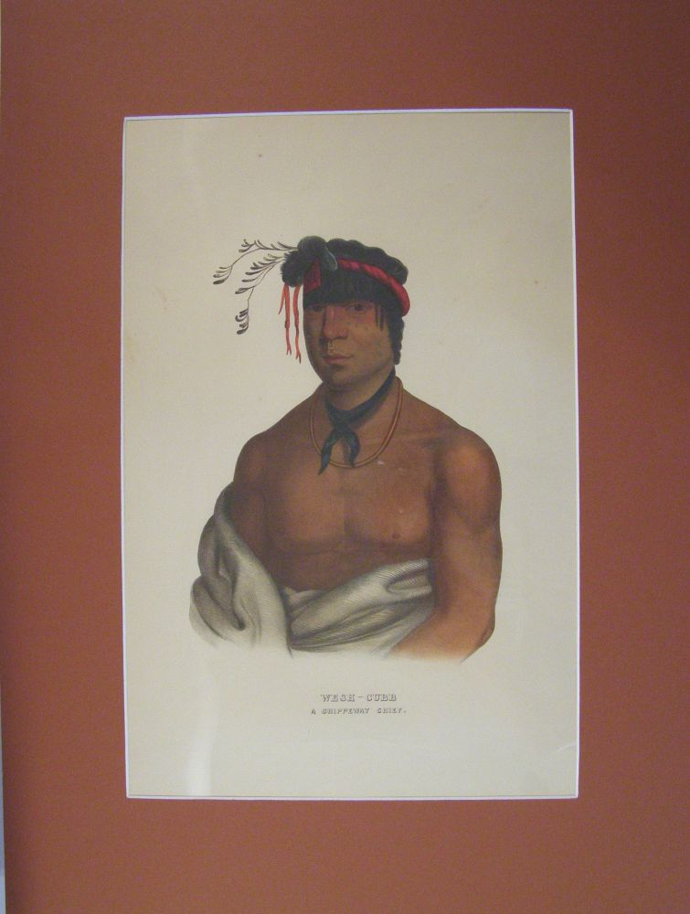 Wesh-Cubb, A Chippeway Chief. McKenney and Hall.