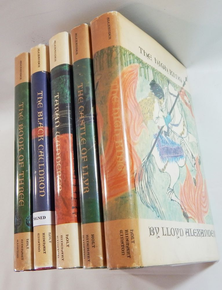 The Prydain Cycle: The Book of Three; The Black Cauldron (Signed); The Castle of Llyr; Taran Wanderer; and The High King. Lloyd Alexander.