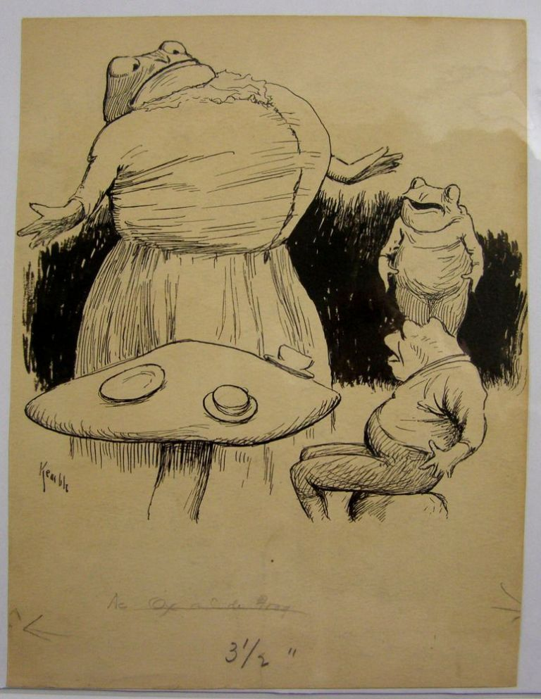 "Original Art: ""De Ox and De Frog"" E. W. Kemble."