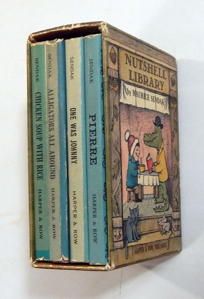 Nutshell Library:Chicken Soup with Rice; Pierre; One Was Johnny; Alligators All Around. Maurice Sendak.