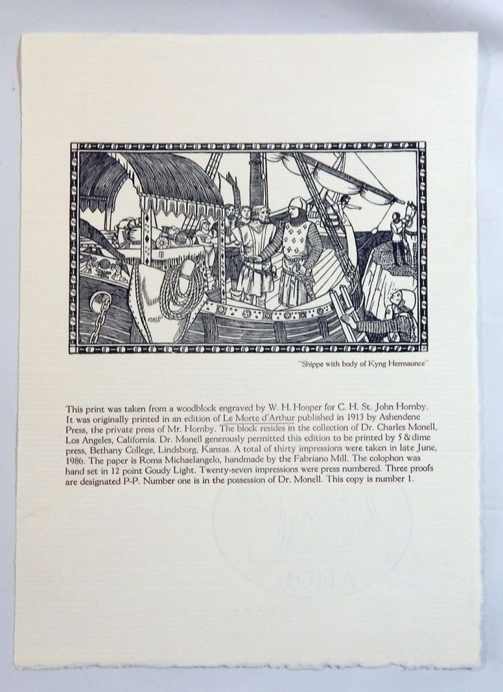 Five Hundred Years of King Arthur (Broadside). Charles Monell.