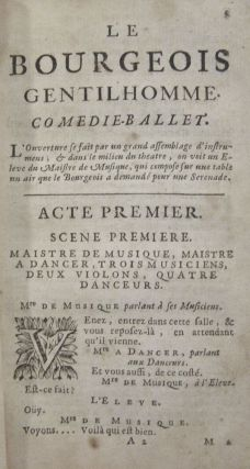 Le Bourgeois Gentilhomme Comedie-Ballet