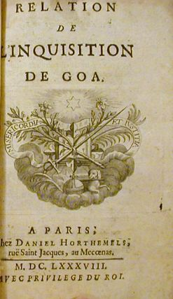 Relation de l'Inquisition de Goa