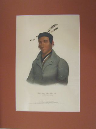 Ka-Ta-Wa-Be-Da, A Chippeway Chief. McKenney and Hall.