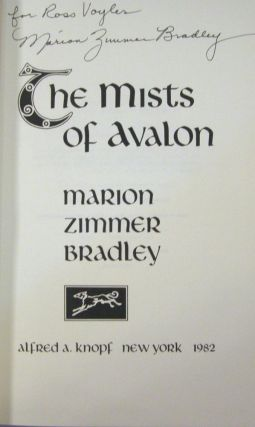 The Mists of Avalon (Inscribed)