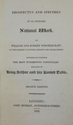 Prospectus and Specimen of an Intended National Work...Relating to King Arthur and His Round Table