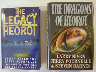The Legacy of Herot; The Dragons of Heorot (signed). Larry Niven, Jerry Pournelle, Steven Barnes