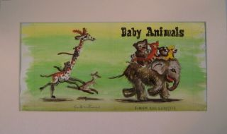 Original Painting for the Cover of 'Baby Animals' (preliminary study). Garth Williams