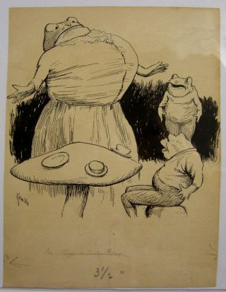 "Original Art: ""De Ox and De Frog"" E. W. Kemble"