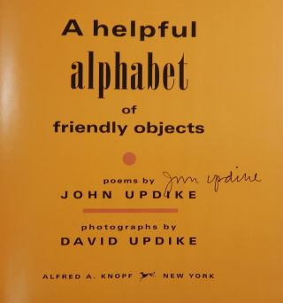 A Helpful Alphabet of Friendly Objects