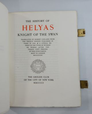 The History of Helyas, Knight of the Swan