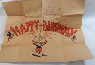 Mickey Mouse Birthday Sheet