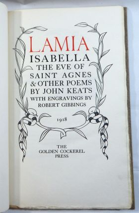 Lamia, Isabella, The Eve of Saint Agnes & Other Poems