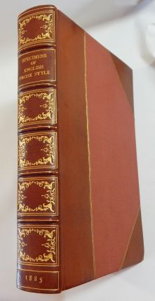 Specimens of English Prose Style from Malory to Macaulay. George Saintsbury