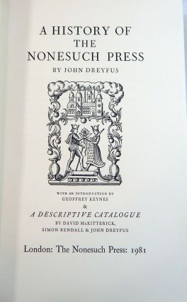 A History of the Nonesuch Press