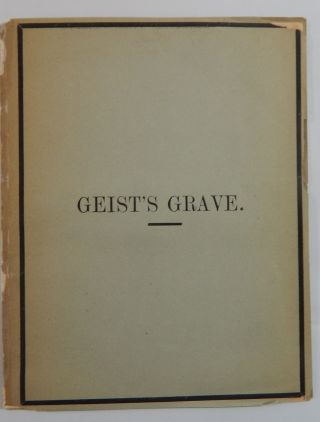 Geist's Grave. Wise Forgery, Matthew Arnold