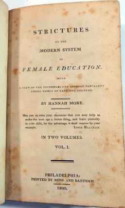 More, Hannah: Strictures on the Modern System of Female Education