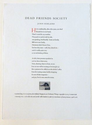 Dead Friends Society. John Ridland