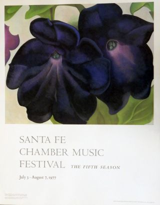Santa Fe Chamber Music Festival: The Fifth Season. Georgia O'Keeffe Event Lithograph