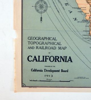 Geographical, Topographical and Railroad Map of California