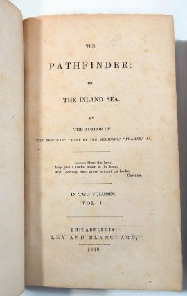Cooper, James Fenimore: The Pathfinder; Or, The Inland Sea.