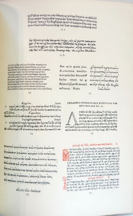 Greek Printing Types 1465-1927; Facsimiles from an Exhibition of Books Illustrating the Development of Greek Printing Shown in the British Museum, 1927
