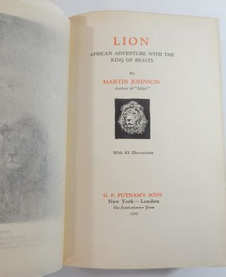 Lion: African Adventures with the King of Beasts