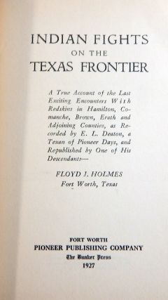 Indian Fights on the Texas Frontier